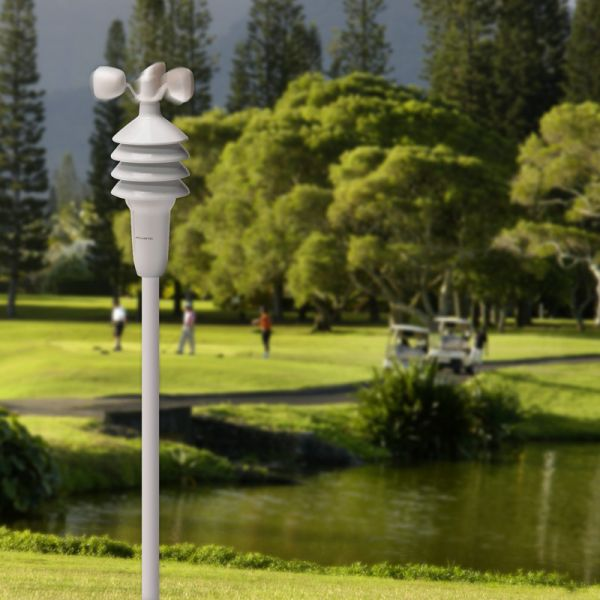 3-in-1 Weather Sensor with Temperature, Humidity and Wind Speed in a Park – AcuRite Weather Stations