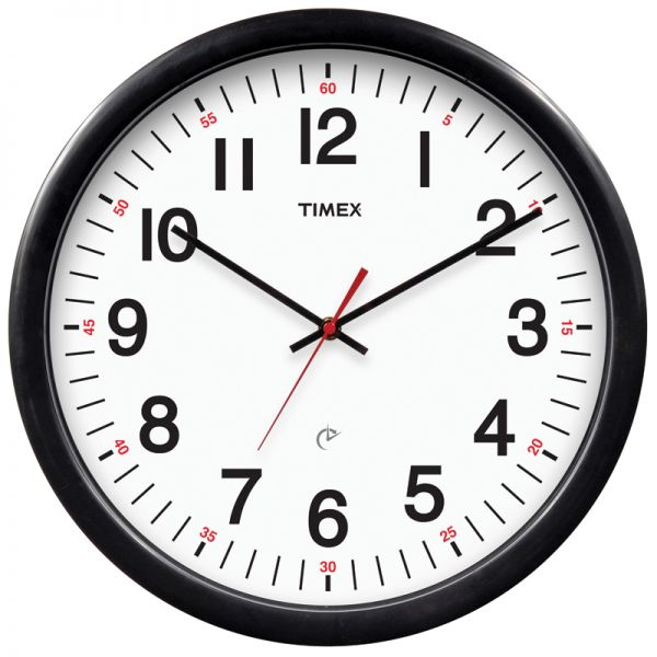 AcuRite black set & forget Timex clock