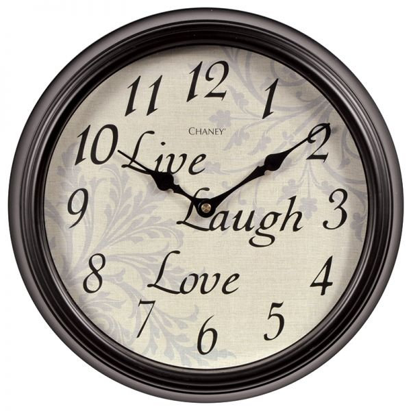 12-inch Live Laugh Love Wall Clock - AcuRite Clocks