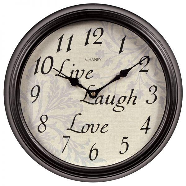 12-inch Live Laugh Love Wall Clock - AcuRite Clocks