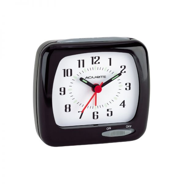 AcuRite travel alarm clock with glow in the dark hands