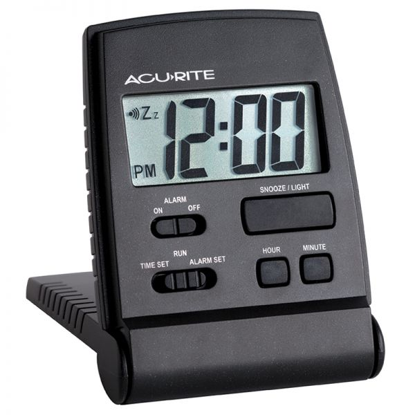 AcuRite travel alarm clock with snooze button