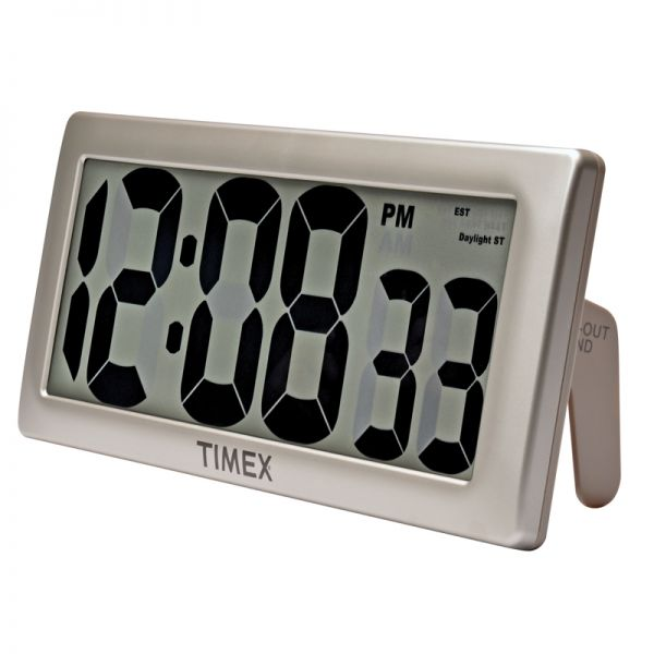 Angled view of 13.5-inch Timex Intelli-Time Extra-Large Digital Clock - AcuRite Clocks