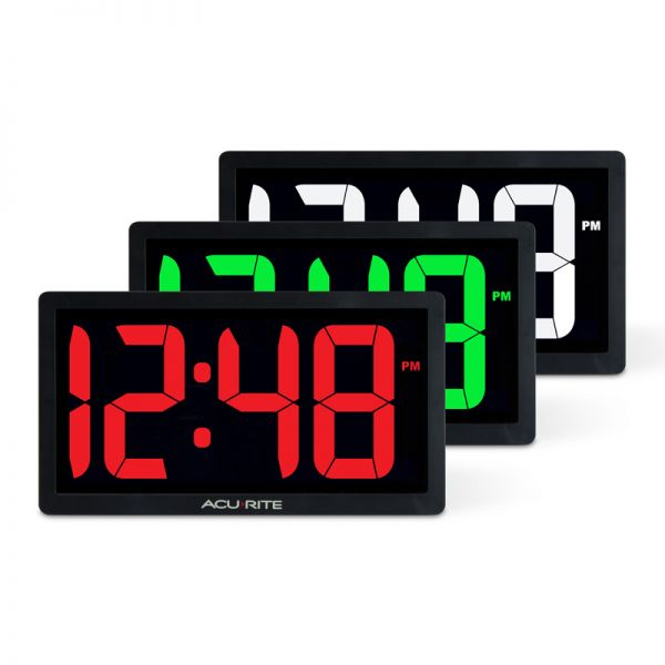 10-inch LED Digital Clock with Auto Dimming Brightness - AcuRite Clocks