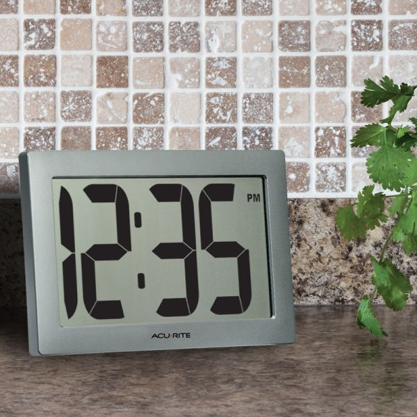 9.5-inch Large Digital Clock on a kitchen counter - AcuRite Clocks