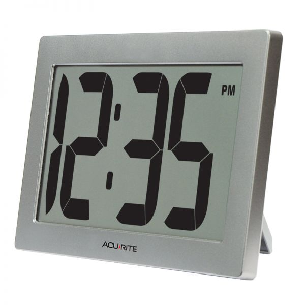 Angled view of the 9.5-inch Large Digital Clock - AcuRite Clocks