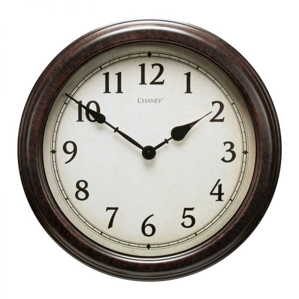 18-inch Large Antique Black Clock - AcuRite Clocks