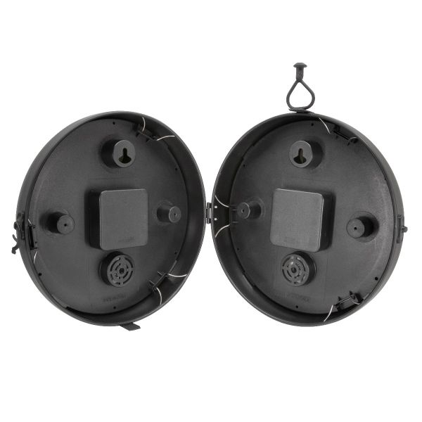 """9"""" Indoor/Outdoor Round Double-Sided Hanging Clock - View 9 - AcuRite Clocks"""