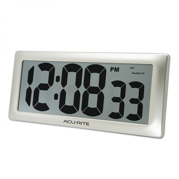 """AcuRite 13.5"""" Large Digital Indoor Wall Clock with Intelli-Time Technology – view 4 – AcuRite Clock"""