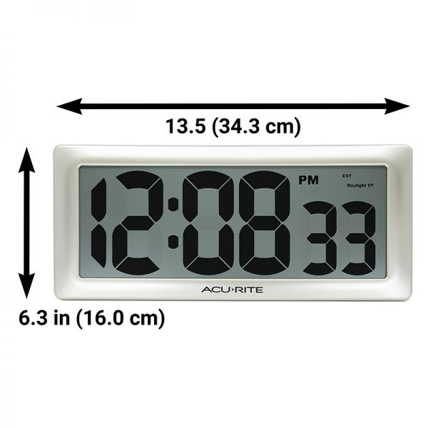 """AcuRite 13.5"""" Large Digital Indoor Wall Clock with Intelli-Time Technology – view 5 – AcuRite Clock"""