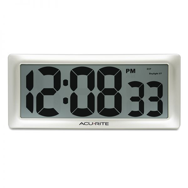 """AcuRite 13.5"""" Large Digital Indoor Wall Clock with Intelli-Time Technology – view 1 – AcuRite Clock"""
