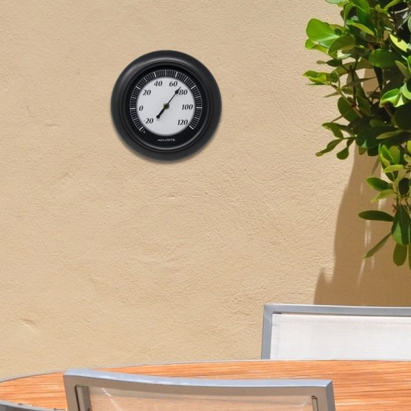 10-inch Outdoor Thermometer on an outside wall - AcuRite Thermometers