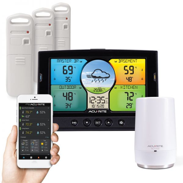 Multi-Sensor Color Display & 3-Sensor Smart Home Environment System with My AcuRite - AcuRite Weather Monitoring Devices
