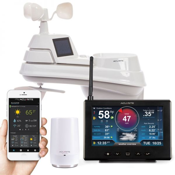 Close-Up of Pro+ 5-in-1 Hi-Def Weather Station with Remote Monitoring through My AcuRite App – AcuRite Home Weather Stations