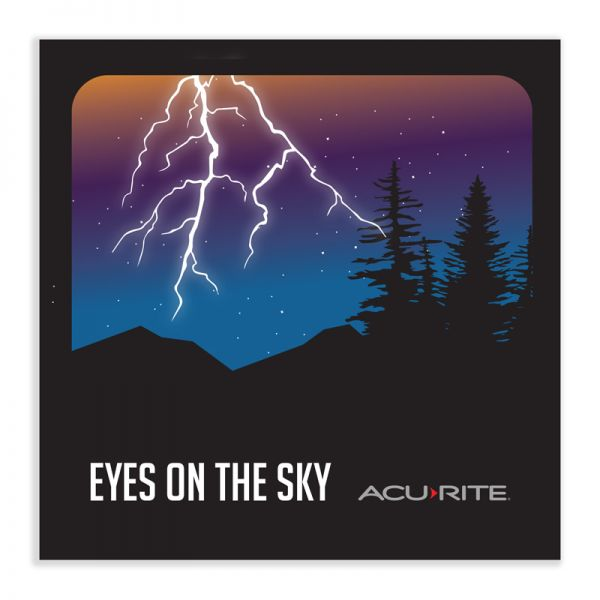 Eyes on the sky sticker - AcuRite Accessories