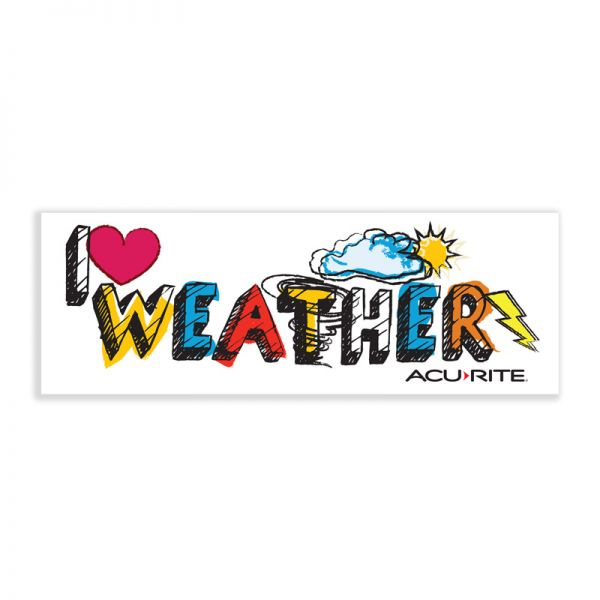 I Love Weather Sticker - AcuRite Accessories