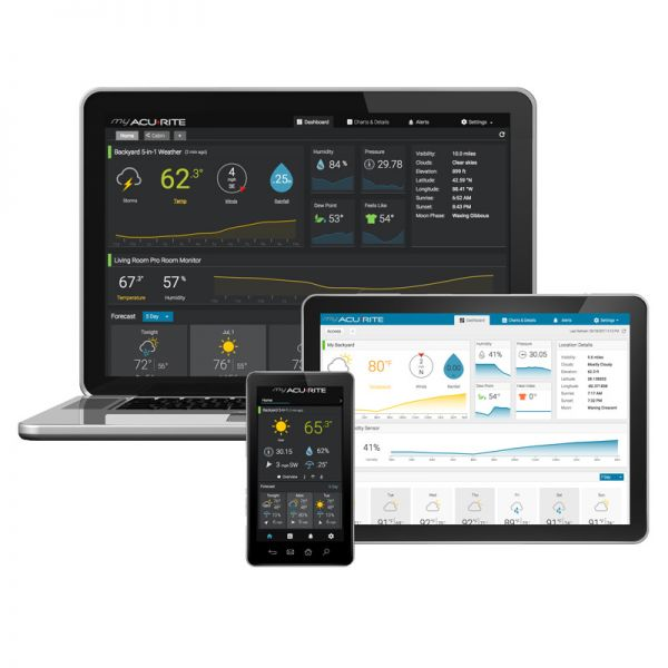 Monitor your weather with the My AcuRite App and website