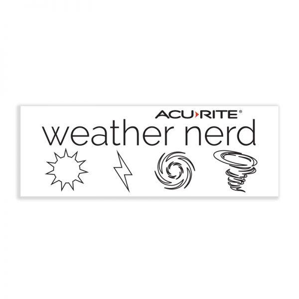 Weather Nerd sticker - AcuRite Accessories