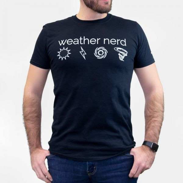 Front of the Weather Nerd T-Shirt - AcuRite Accessories