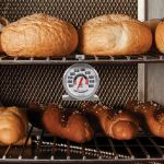 Stainless Steel Oven Thermometer in a bakers oven - AcuRite Kitchen Devices
