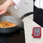Digital Meat Thermometer being used in a kitchen - AcuRite Kitchen Gadgets