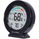 Angled view of the AcuRite Pro Accuracy Indoor Temperature and Humidity Monitor with Alarms - AcuRite Home Monitoring Devices