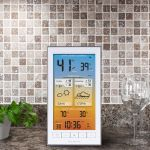 Display for Wi-Fi Weather Station with Dark Sky Forecast on a Counter – AcuRite Weather Technology