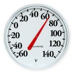 12.5-inch Fahrenheit or Celsius Thermometer