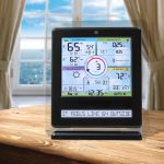 Color Weather Station Display with PC Connect for 5-in-1 Weather Sensors on a Table – AcuRite Weather Devices