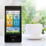 Basic Color Weather Station Display Sitting on Kitchen Counter – AcuRite Home Monitoring