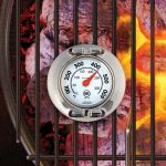 Stainless Steel Grill Surface Thermometer being used on a grill - AcuRite Kitchen Gadgets