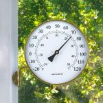 6-inch Antiqued Brass Metal Swivel Thermometer - AcuRite Thermometer