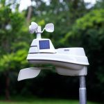 PRO+ 5-in-1 Weather Station with LCD Color Display in a Yard – AcuRite Weather Stations
