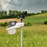 Atlas Weather Station Sensor Positioned in a Yard – AcuRite Weather Monitoring System