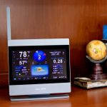 ATLAS Weather Station Color Display Close-Up on a Shelf – AcuRite Weather Instruments
