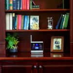 ATLAS Weather Station Color Display Placed on a Bookshelf in Your Home – AcuRite Home Monitoring Devices