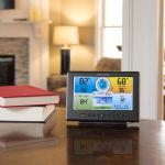 Pro+ 5-in-1 Weather Station Digital Color Display Placed on a Side Table in Your Home – AcuRite Home Monitoring Devices