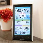 LCD Color Display for PRO+ 5-in-1 Weather Station Sitting on a Table – AcuRite Weather Technology