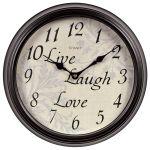 12-inch Live Laugh Love Wall Clock