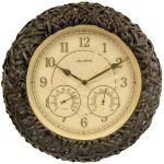 15-inch Wicker Outdoor Clock