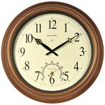 18-inch Atomic Metal Outdoor Clock with Thermometer