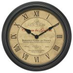 18-inch Bordeaux Wall Clock