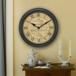 18-inch Bordeaux Wall Clock hanging on a wall - AcuRite Clocks