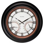 """24"""" Illuminated LED Large Outdoor Decorative Clock with Thermometer and Hygrometer Combo - AcuRite Clocks - View 1"""