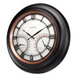 """24"""" Illuminated LED Large Outdoor Decorative Clock with Thermometer and Hygrometer Combo - AcuRite Clocks - View 3"""
