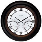 """24"""" Illuminated LED Large Outdoor Decorative Clock with Thermometer and Hygrometer Combo - AcuRite Clocks - View 9"""