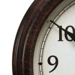 Close up of the 18-inch Large Antique Black Clock - AcuRite Clocks