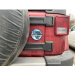 Storm Spotter Magnet stuck to a red truck - AcuRite Accessories