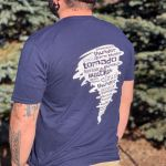 Severe Weather T-Shirt worn by a person with tattoos - AcuRite Accessories