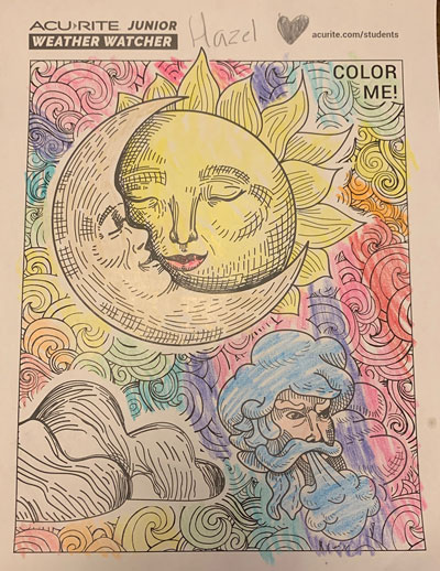 AcuRite Junior Weather Watcher sun and moon coloring page